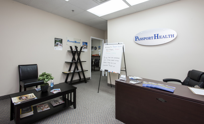 Kitchener Ontario Travel Clinic Waiting Room