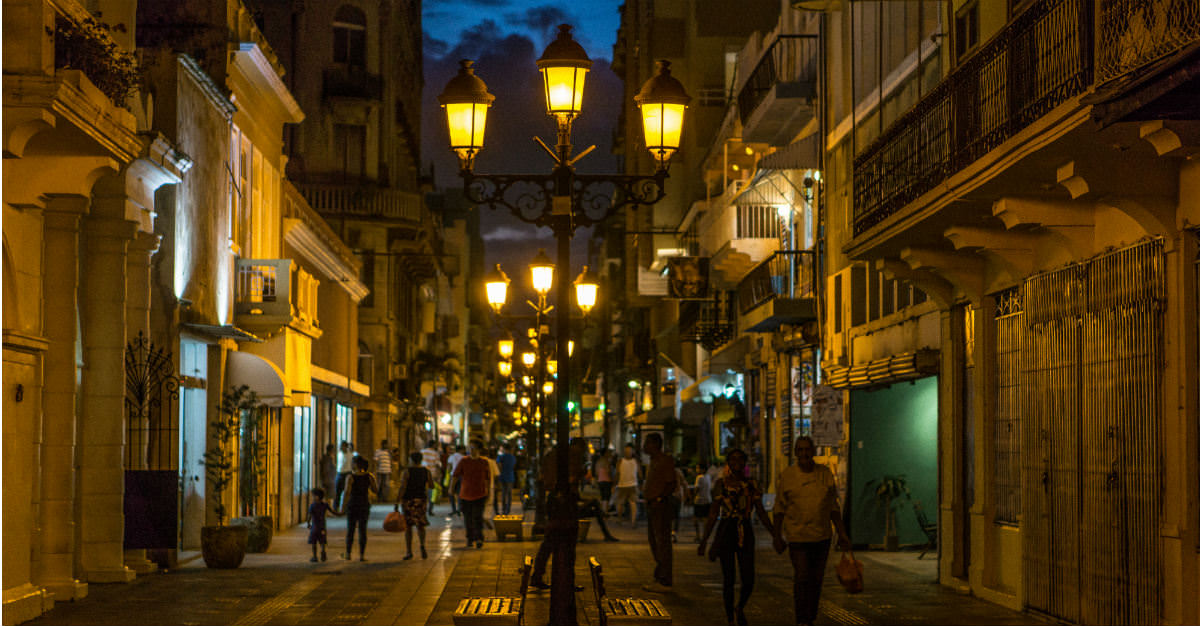 Zona Colonial comes alive with culture at night.