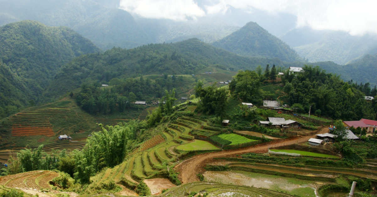 Small villages and rice paddies make Vietnam a dream for backpackers.