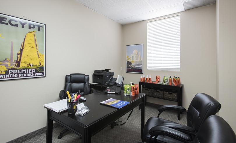 Salle de consultation de la Clinique santé-voyage de Kitchener