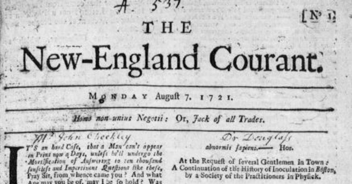 William Franklin a fait de New England Courant pour exprimer sa position contre l'inoculation.