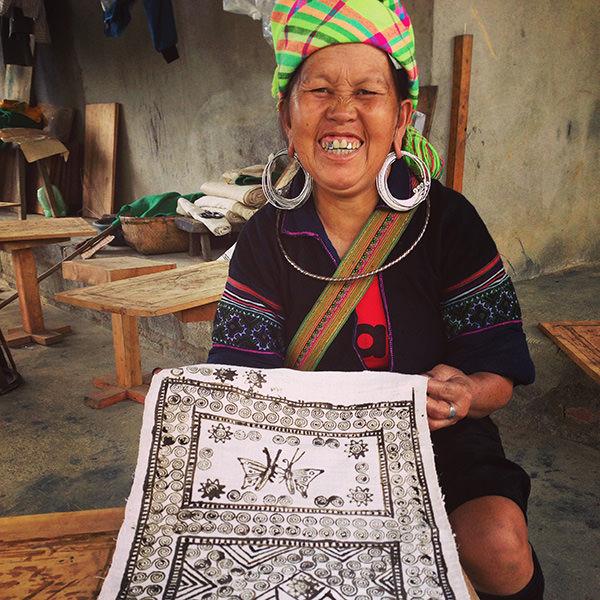 Tribale femme vietnamienne.