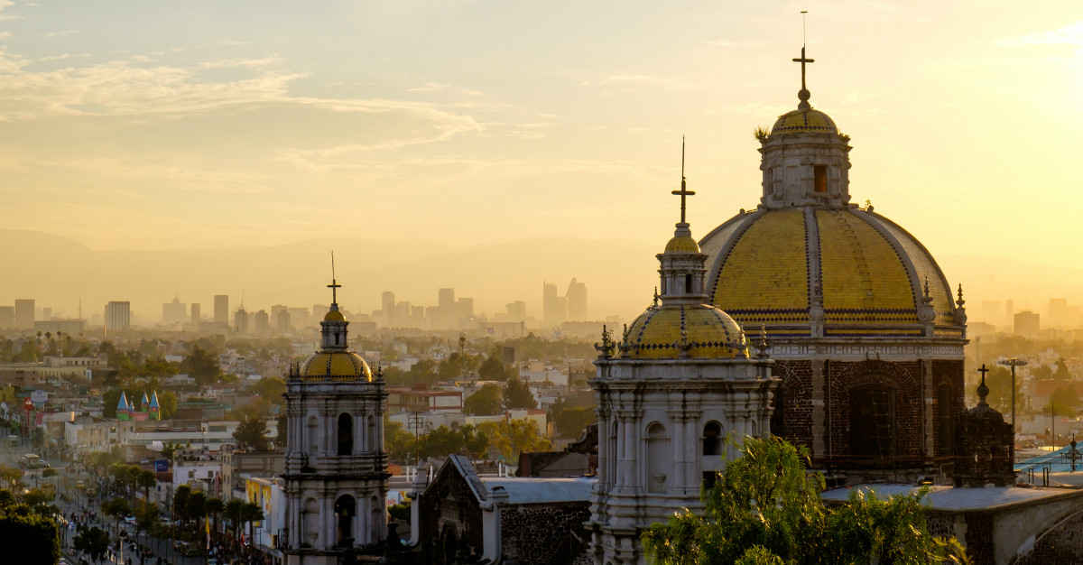 Mexico City may be a bit higher in elevation, but still offers an escape from cold winters up north.