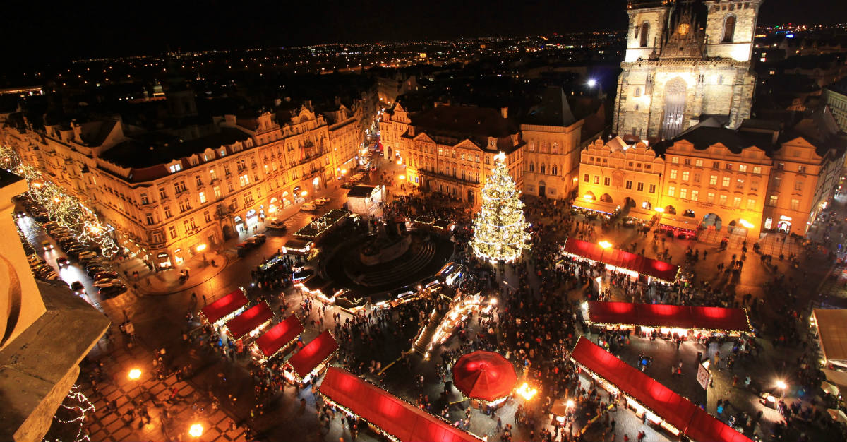 The holidays are inescapable in Prague thanks to the Christmas market.