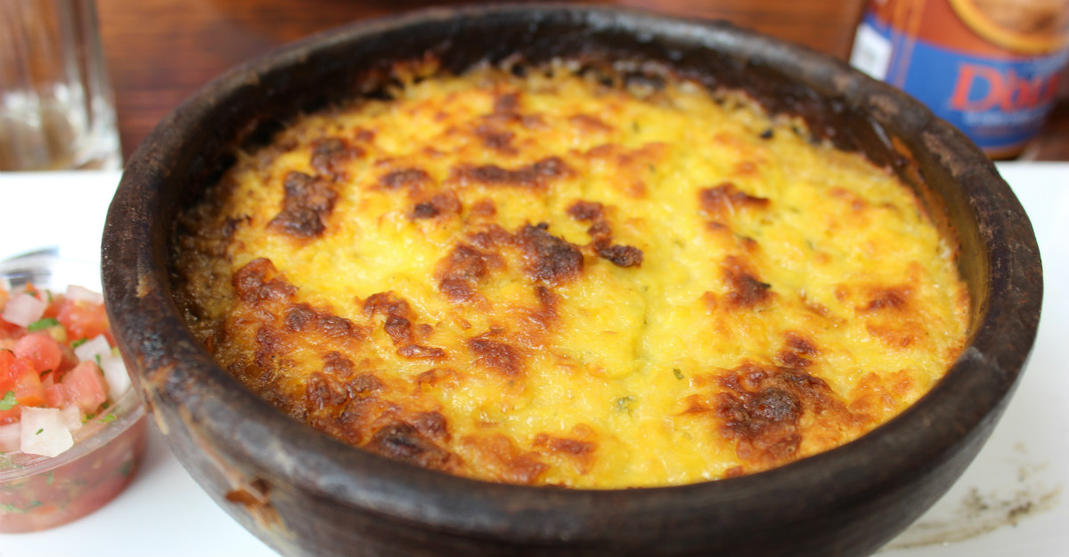 With sugar on top, this dish lives up to its translation of corn cake.