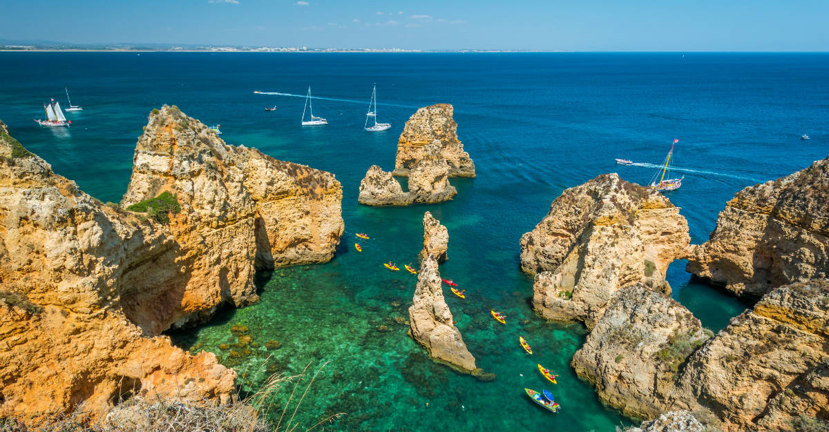 The seaside region is lauded for stunning cliff formations.
