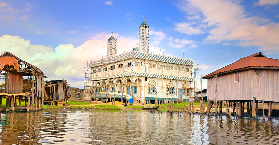 Amazing mosques and homes on stilts are two great things to see.