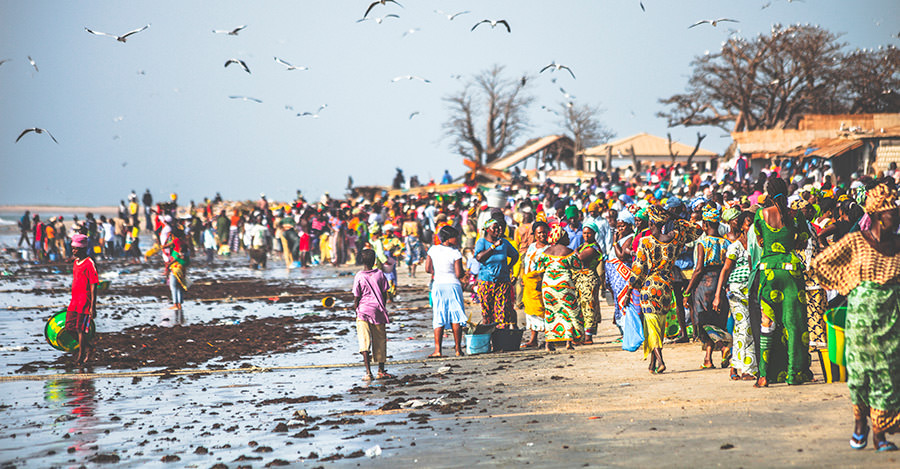 Gambia's beachside markets are some of the best in the world.