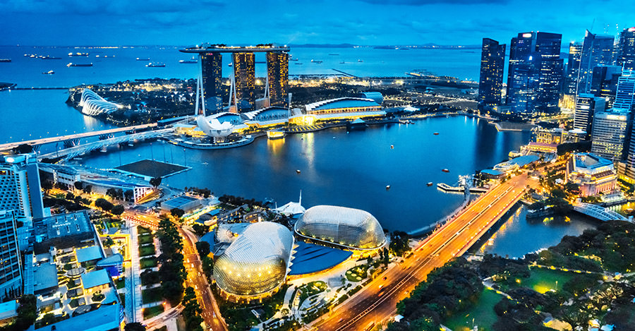 Singapore is a popular destination for it's metro areas.
