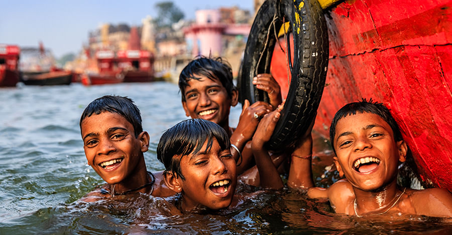 The Ganges River is just one of the places you can go in India.