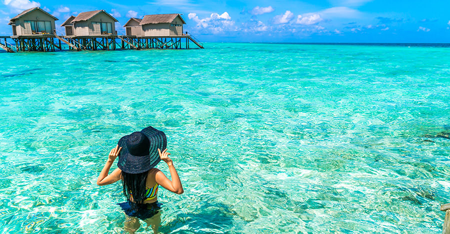 Clear waters and amazing beaches, visit the Maldives for an amazing trip.