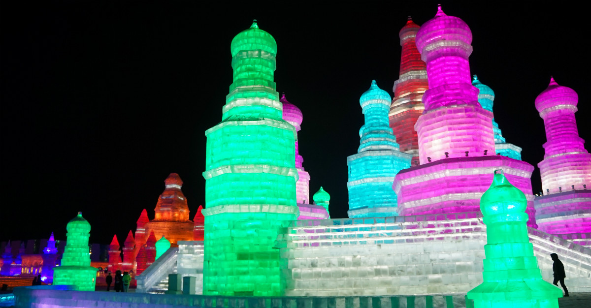 Besides battling the cold, you'll be surrounded by ice structures in Harbin.