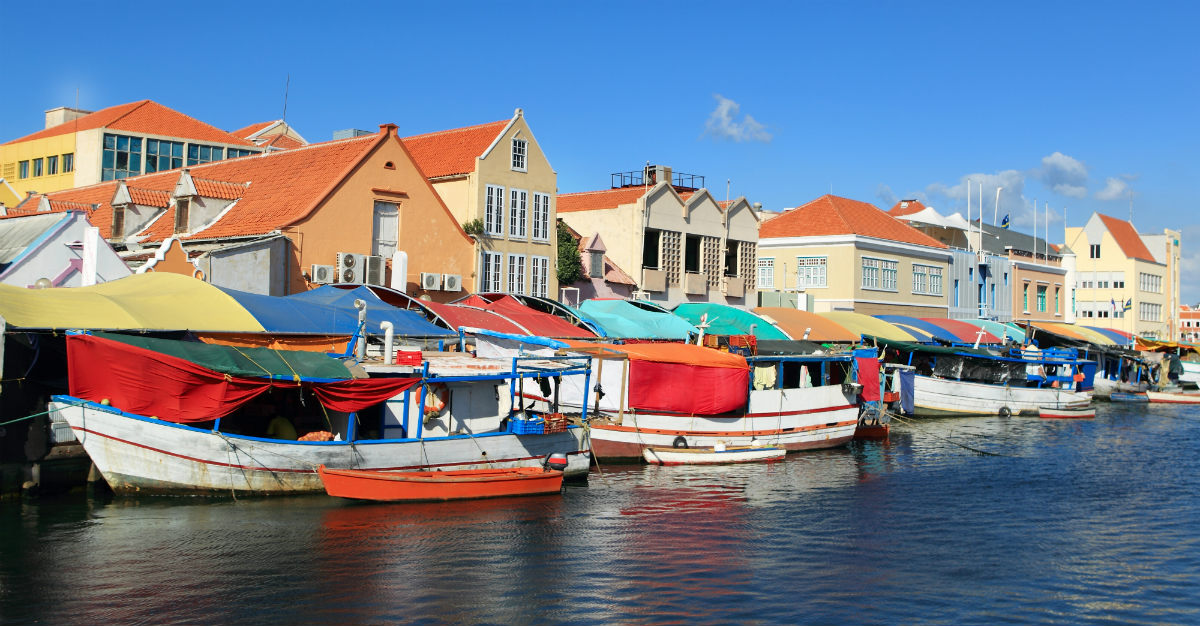 A floating market in Curacao.