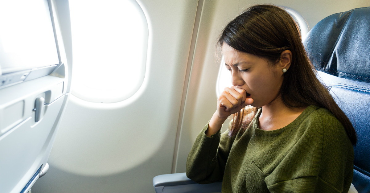 When sick while flying, a few steps can make the trip easier for both you and other passengers.