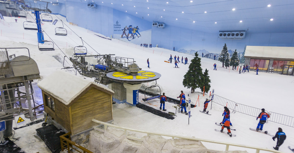 Ski Dubai is famous for its yearround skiing.