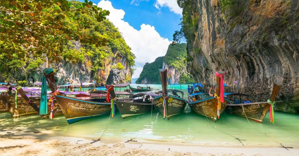 This Thai town is less populated than many other busy beaches in the country.
