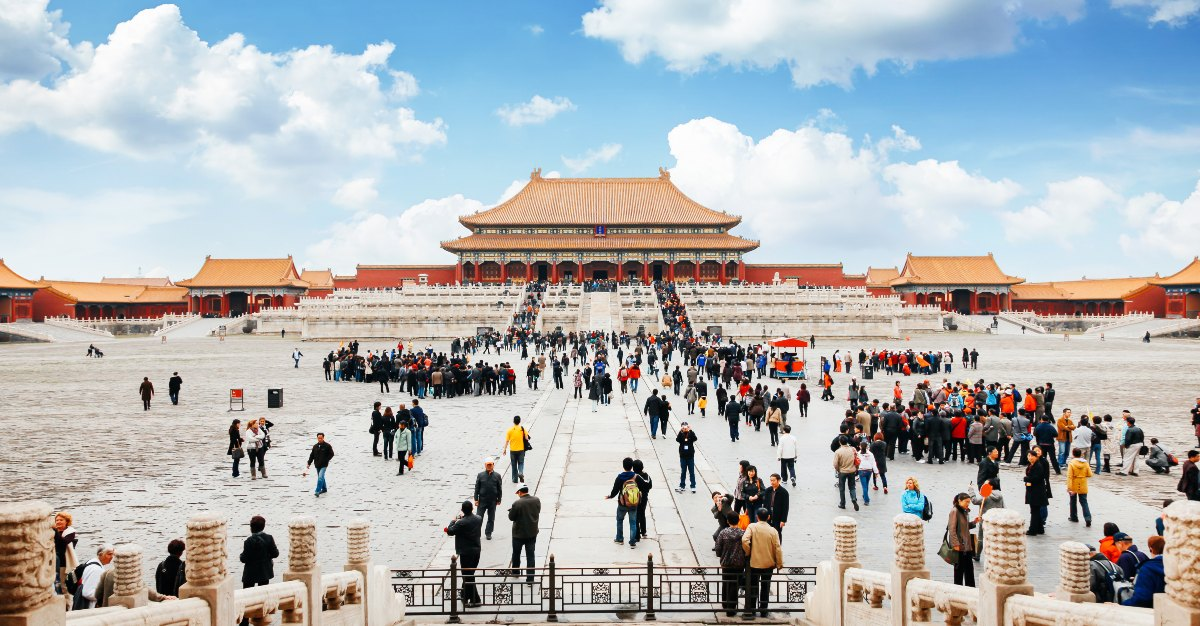 Attractions like the Forbidden City bring in millions of visitors.