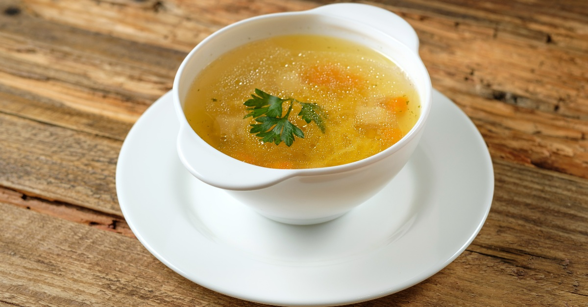 The broth that makes up many soups is helpful for flu recovery.