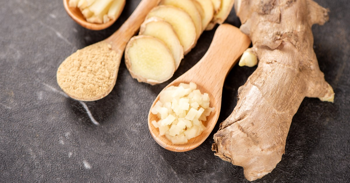 Ginger can ease the nausea that often comes with the flu.